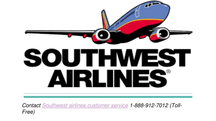 contact southwest airlines customer service 1 888 912 7012 toll free - Southwest Airlines Ppt Template Free Download