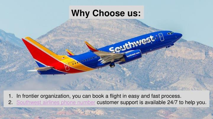 in frontier organization you can book a flight in easy and fast process southwest - Southwest Airlines Ppt Template Free Download