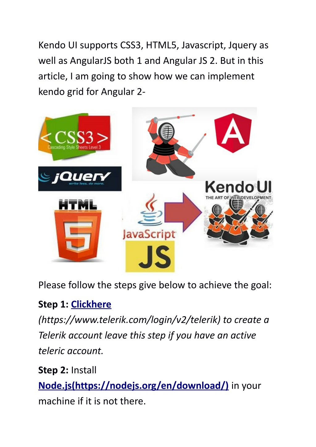 PPT - How To Use Kendo UI With Angular 2? PowerPoint Presentation