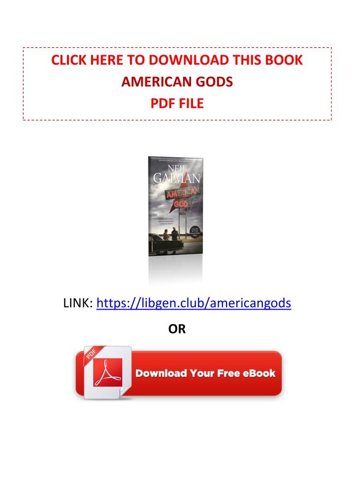 Ppt Pdf Free Download American Gods By Neil Gaiman Powerpoint