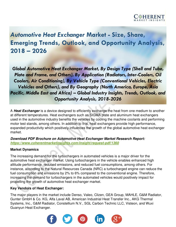 PPT - Automotive Heat Exchanger Market Shares, Strategies and