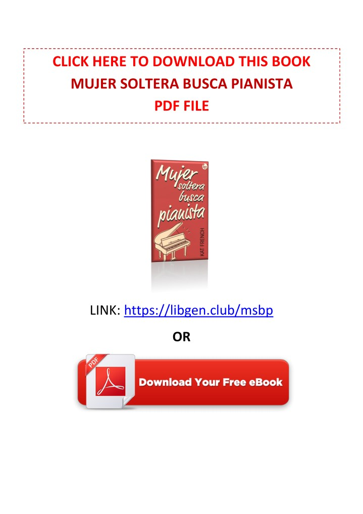 [PDF] Free Download Mujer soltera busca pianista By Kat French