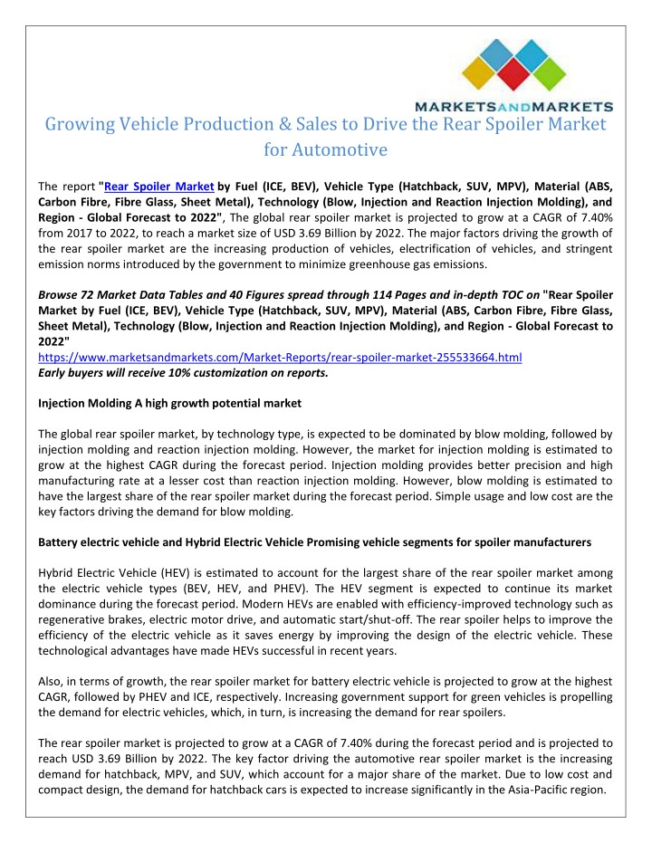 PPT - Increasing Production of Electric Vehicles and SUV to Drive
