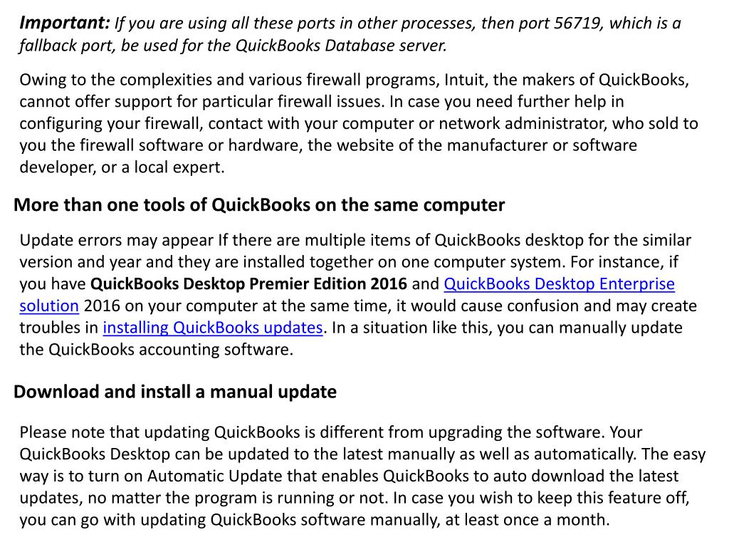 PPT - Fix Common QuickBooks Desktop Update Errors - Troubleshooting