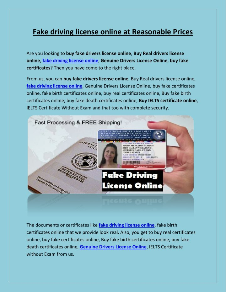 PPT - Fake driving license online at Reasonable Prices PowerPoint  Presentation - ID:7974547