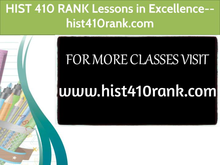 Ppt hist 410 rank lessons in excellence hist410rank hist 410 rank lessons in excellence hist410rank toneelgroepblik Images