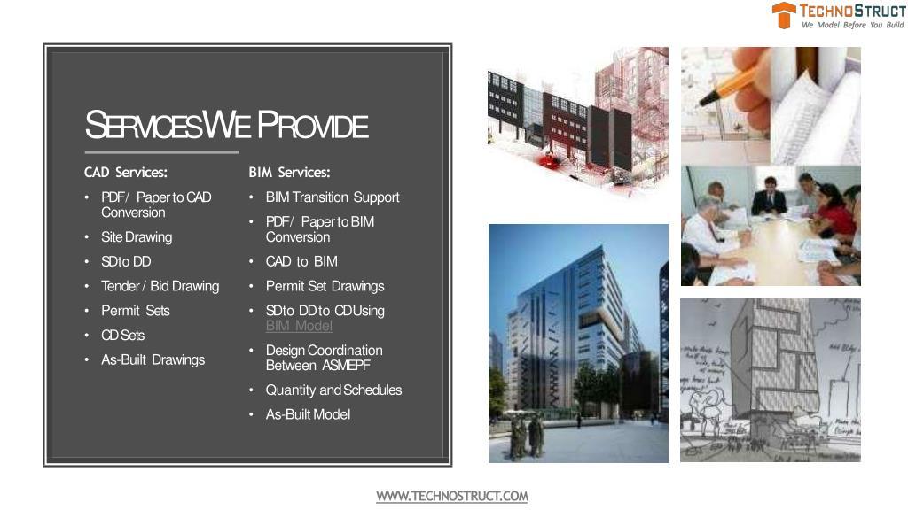PPT - BIM modeling, Construction Design and Services - Technostruct