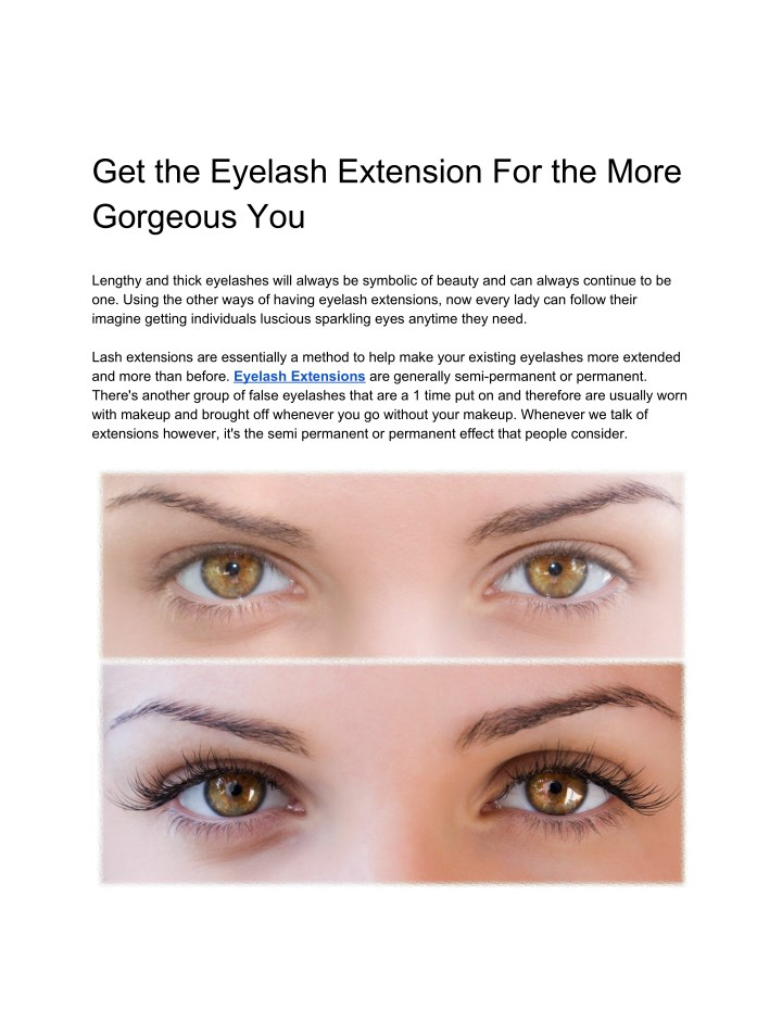 397149f0cca Get the Eyelash Extension For the More Gorgeous You - PowerPoint PPT  Presentation