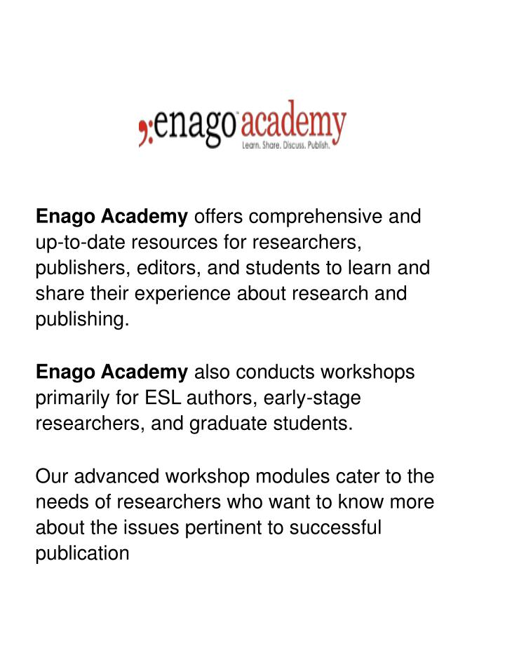 enago academy offers comprehensive and up to date n.