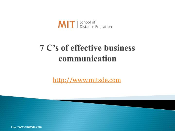 7 c s of effective business communication n.