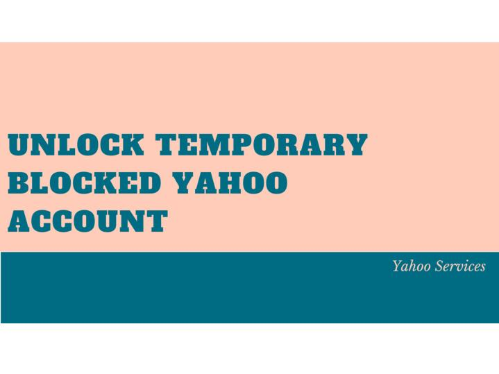 how to get into a locked yahoo account