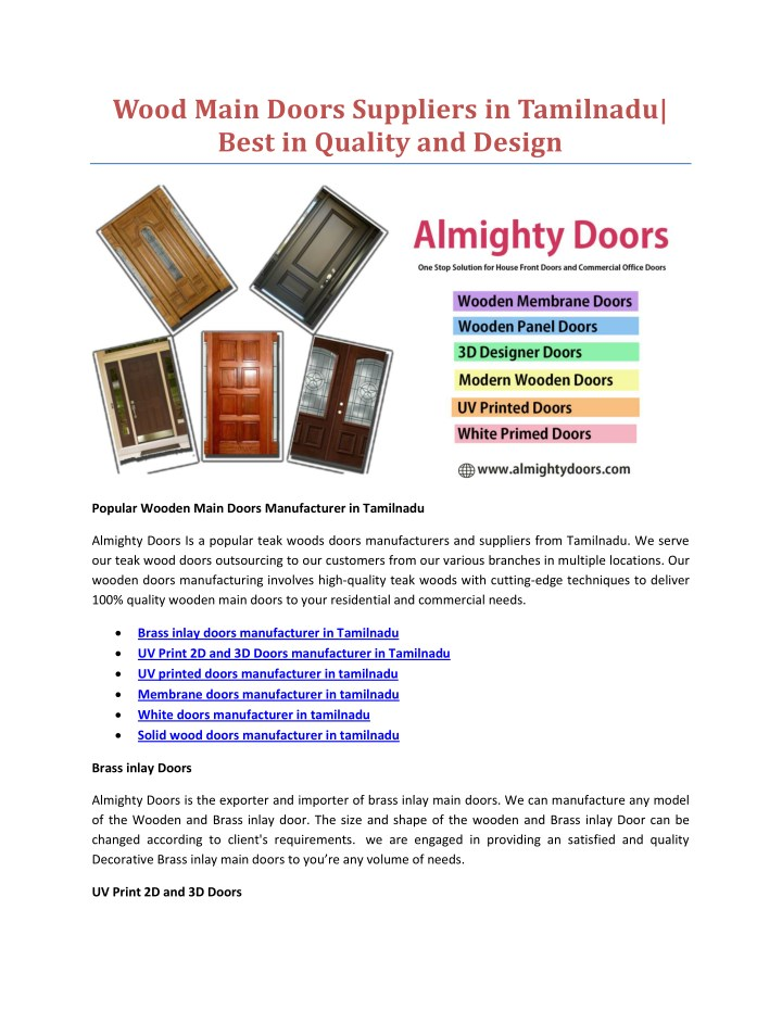 wood main doors suppliers in tamilnadu best n.
