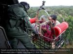 people are airlifted by the indian navy soldiers