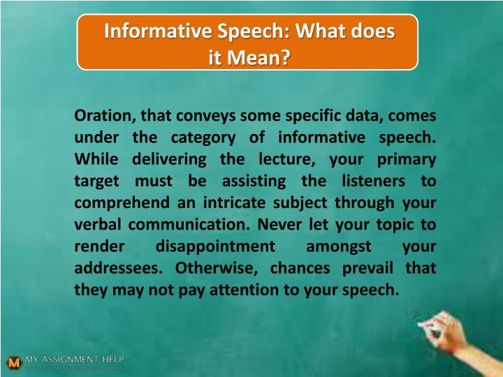 what does informative speech mean