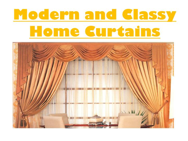 modern and classy home curtains n.