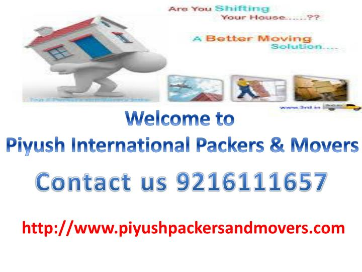 welcome to piyush international packers movers n.