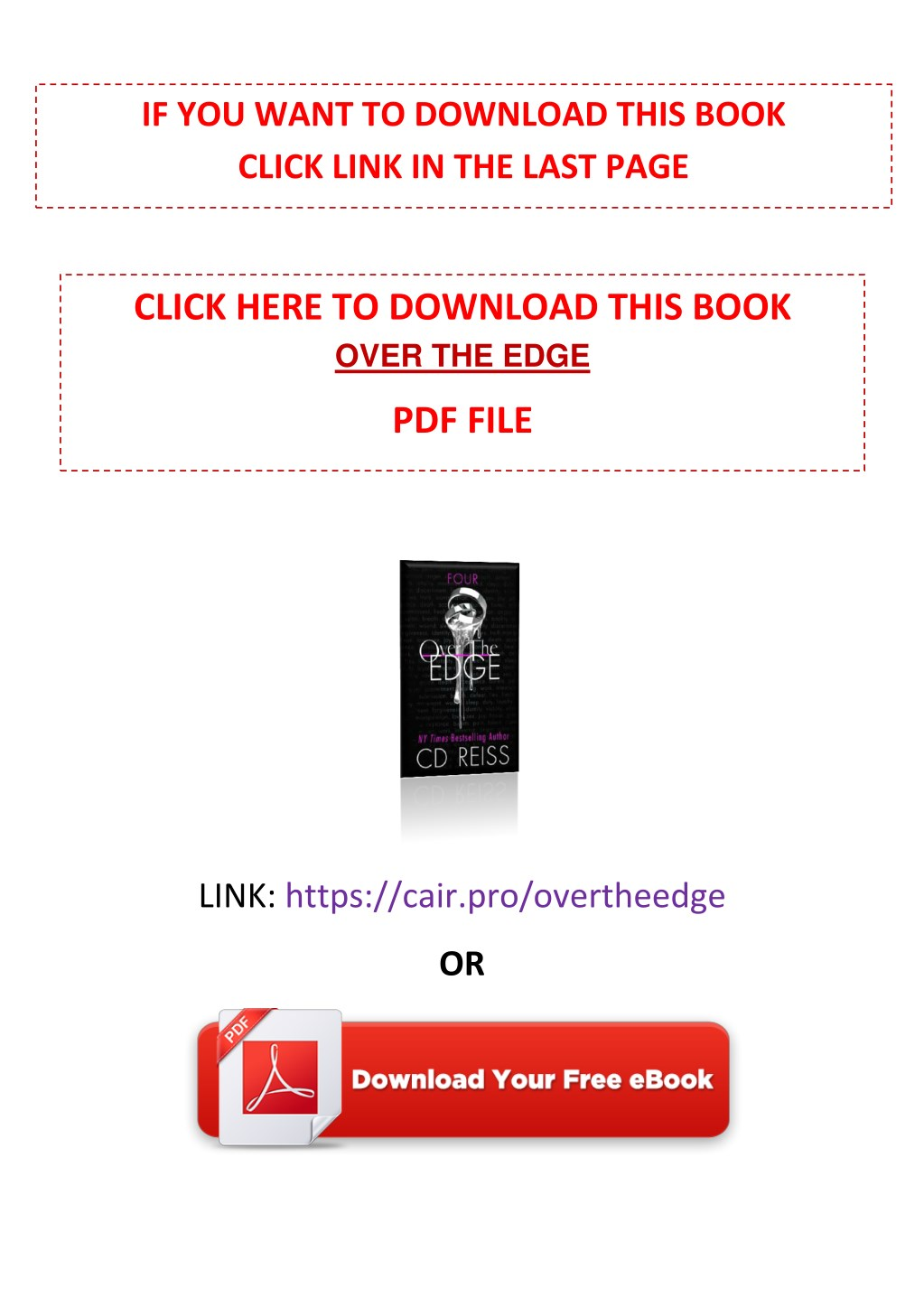 PPT - [PDF] Free Download Over the Edge By CD Reiss