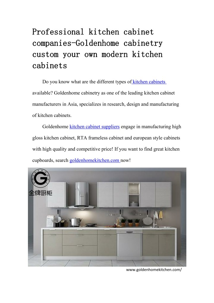 PPT - Professional kitchen cabinet companies-Goldenhome ...