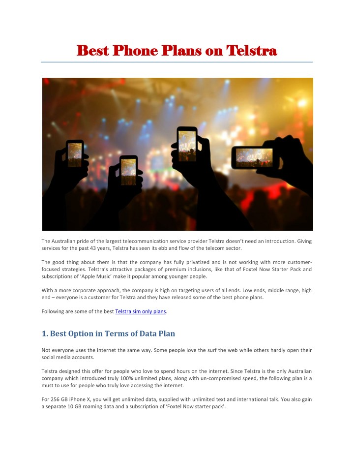 PPT - Telstra Sim Only Plans PowerPoint Presentation - ID:7977086