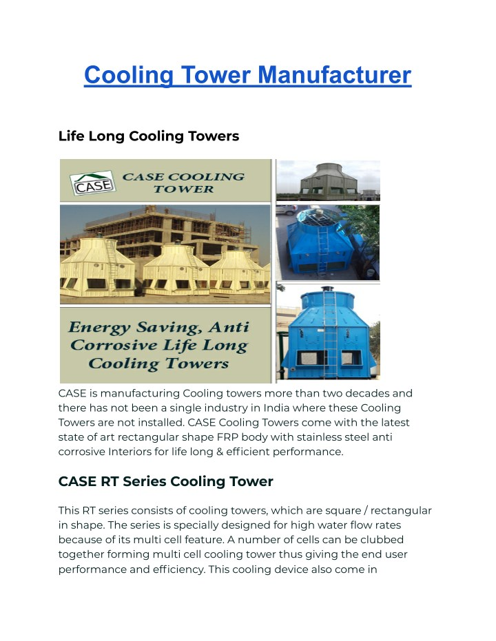 PPT - Cooling Tower Manufacturer PowerPoint Presentation