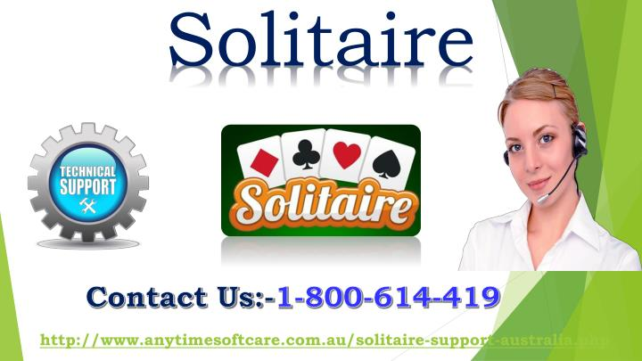 PPT - Solve Solitaire 247 Game Error Via Toll-Free 1-800-614-419