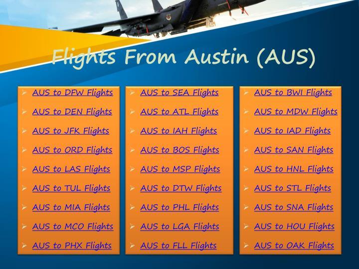 Flights From Austin Aus