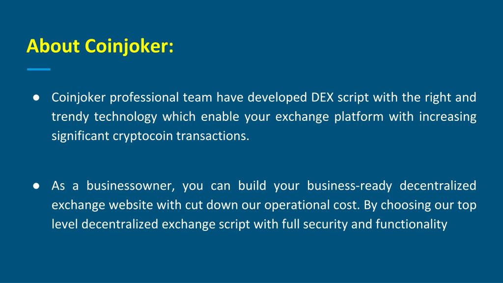 PPT - Decentralized Exchange Script  Decentralized Bitcoin