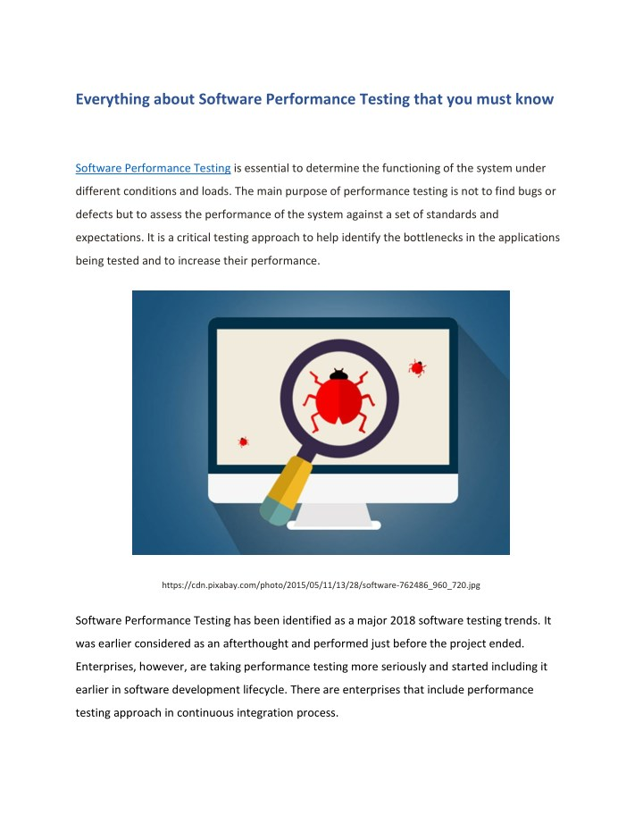 everything about software performance testing n.