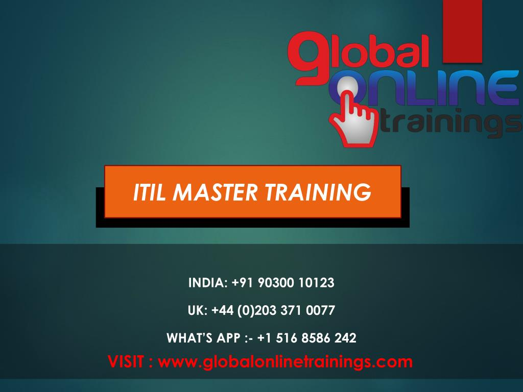 Ppt Itil Master Training Best Itil Master Certification Training