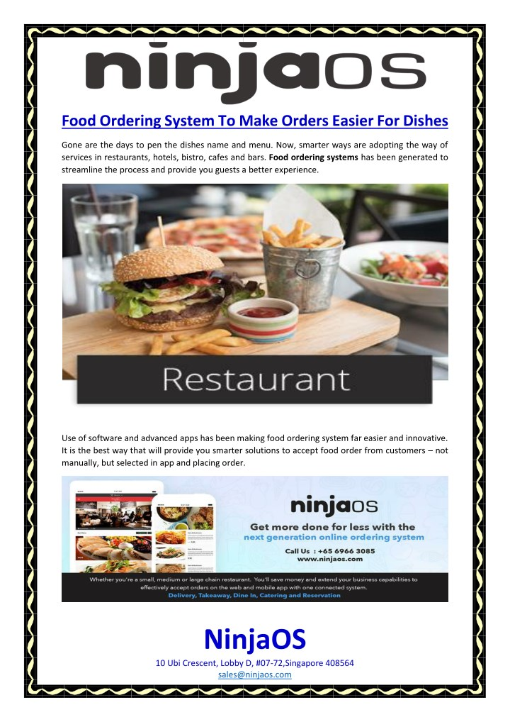 PPT - Food Ordering System To Make Orders Easier For Dishes