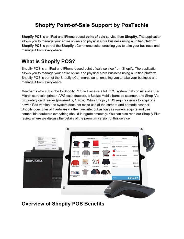 shopify point of sale support by postechie n.