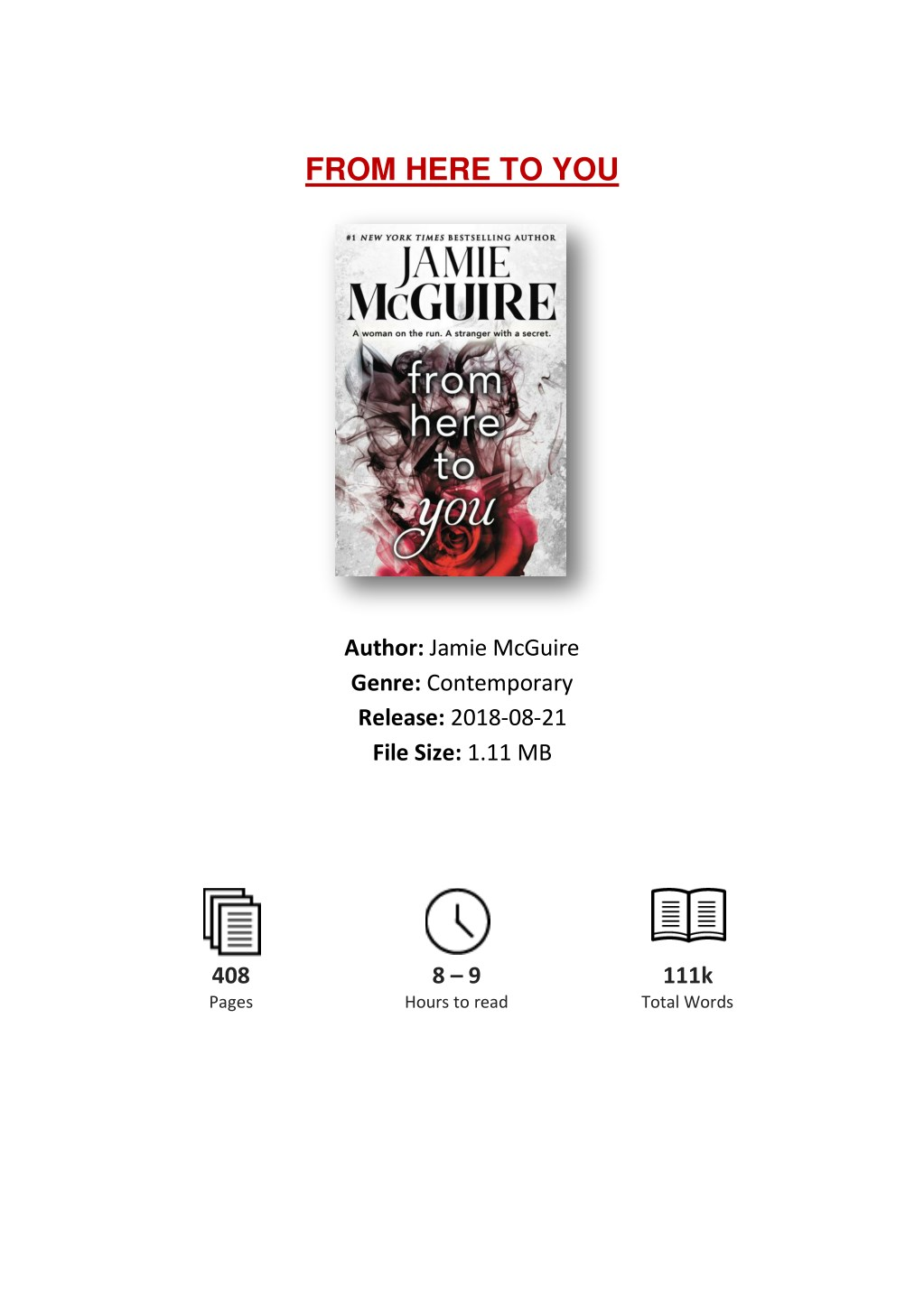 PPT - [PDF] Free Download From Here to You By Jamie McGuire