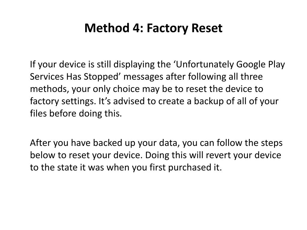 PPT - Unfortunately Google play services have stopped