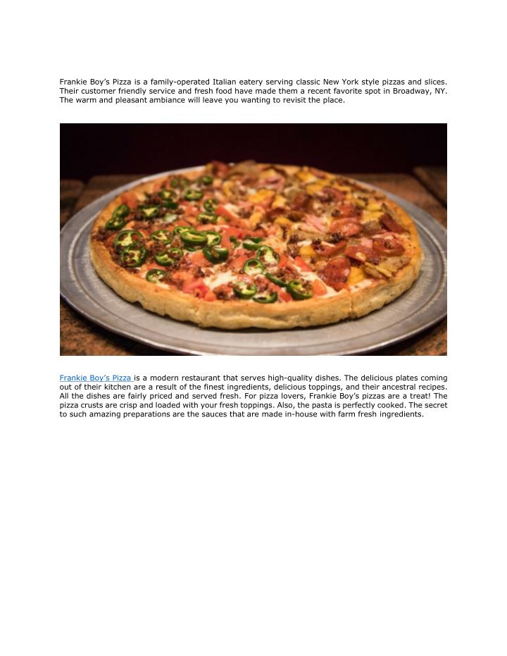 frankie boy s pizza is a family operated italian n.