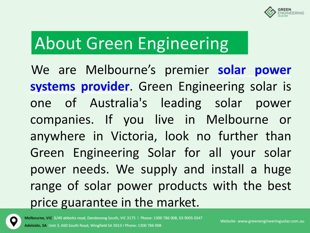 PPT - Solar Installers Victoria – Green Engineering Solar