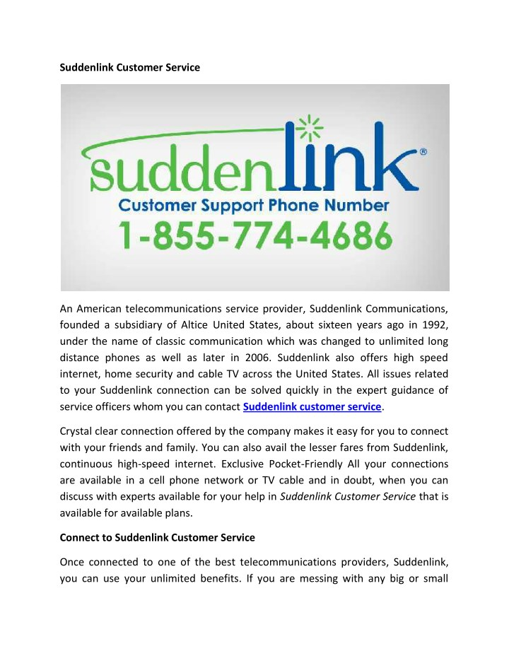 PPT Suddenlink Customer Service PowerPoint Presentation ID 7979919