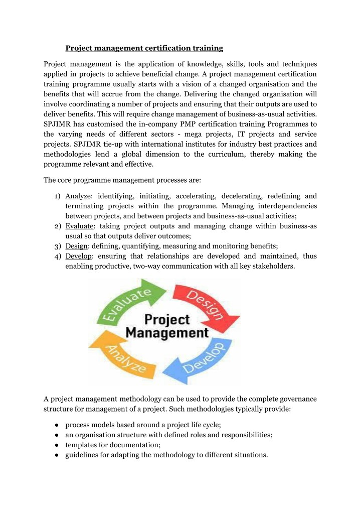 Ppt Project Management Certification Courses Powerpoint