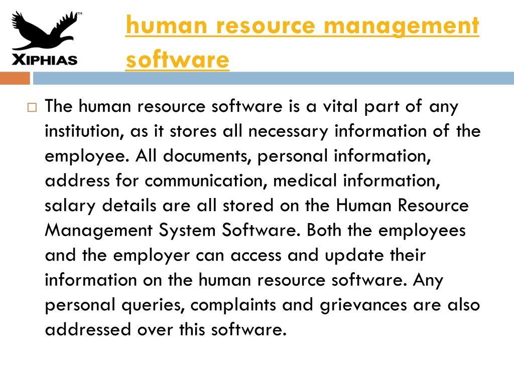 PPT - human resource management software PowerPoint