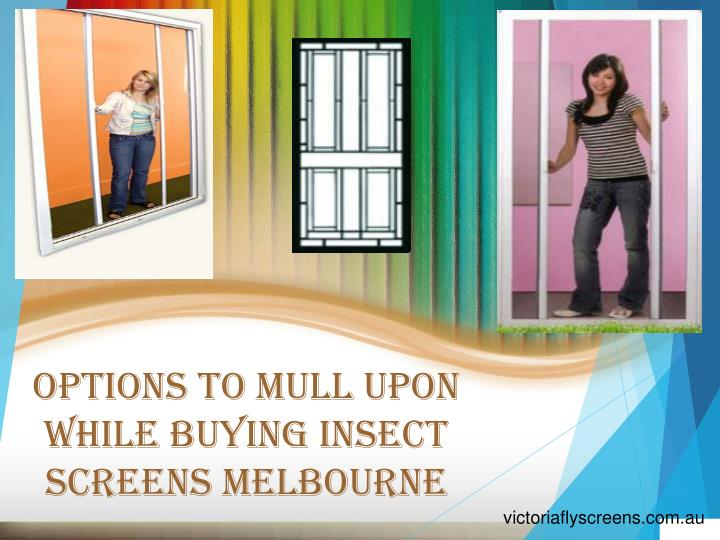 options to mull upon while buying insect screens melbourne n.