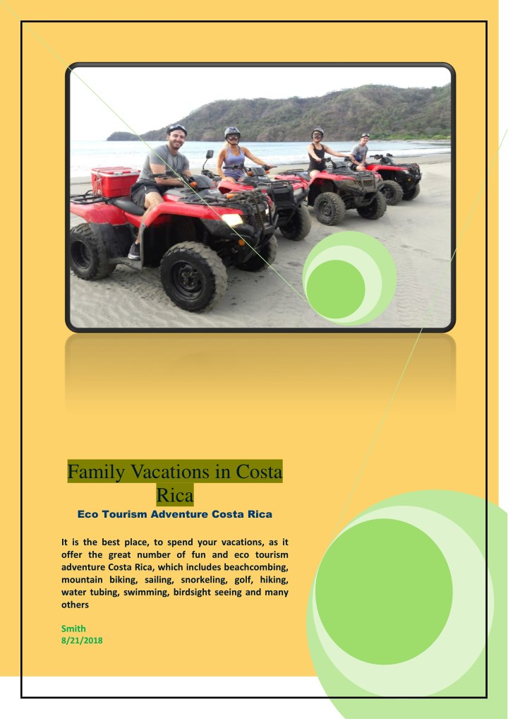 family vacations in costa rica eco tourism n.