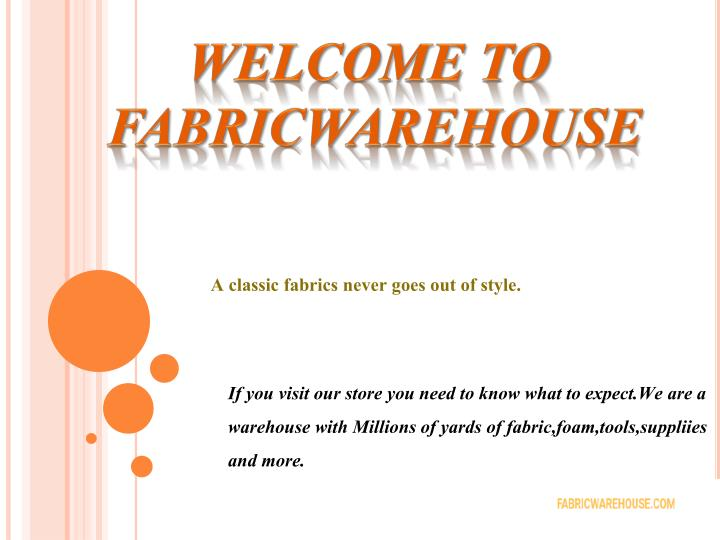 welcome to fabricware house n.