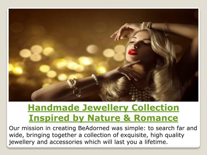handmade jewellery collection inspired by nature n.