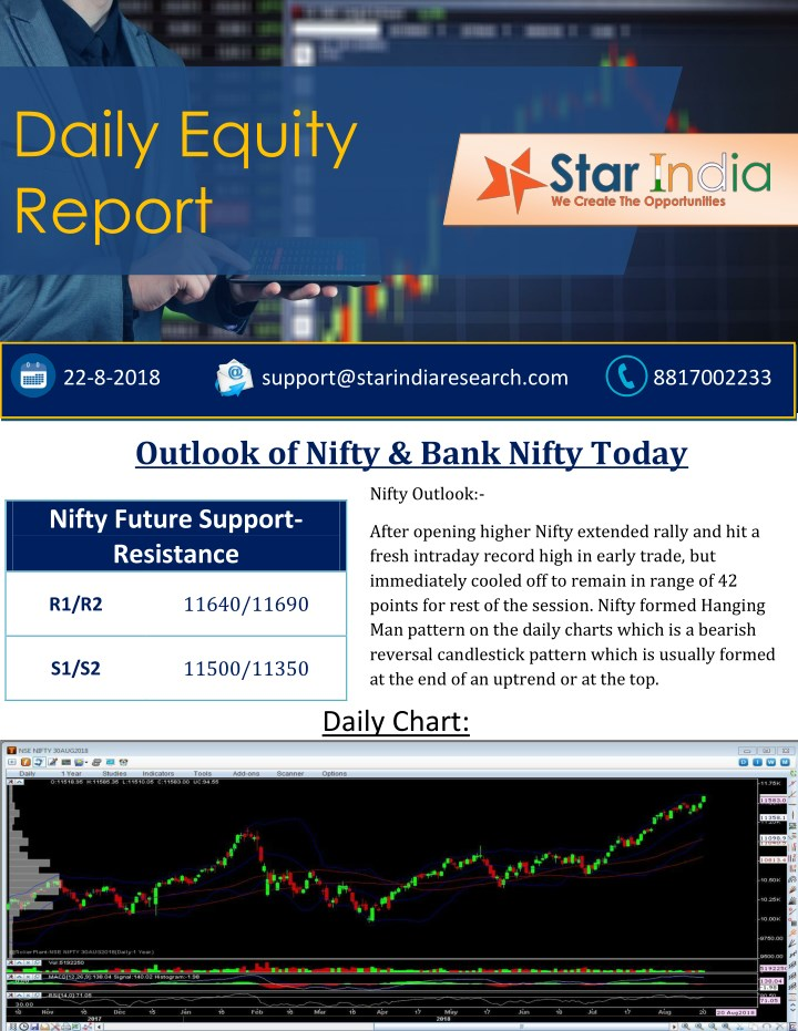 daily equity report n.