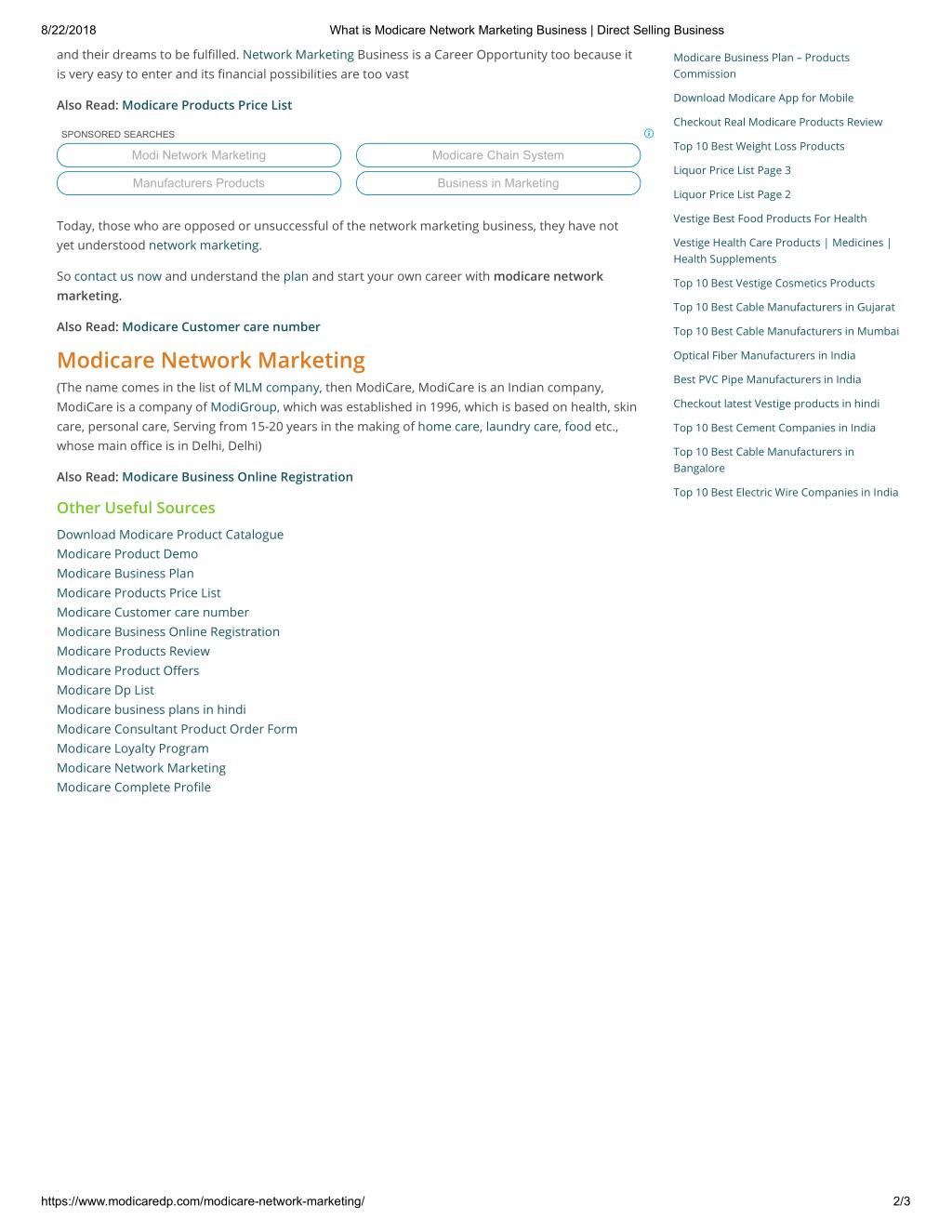 PPT - modicare network marketing PowerPoint Presentation