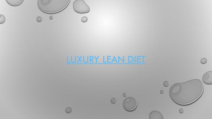 luxury lean diet n.