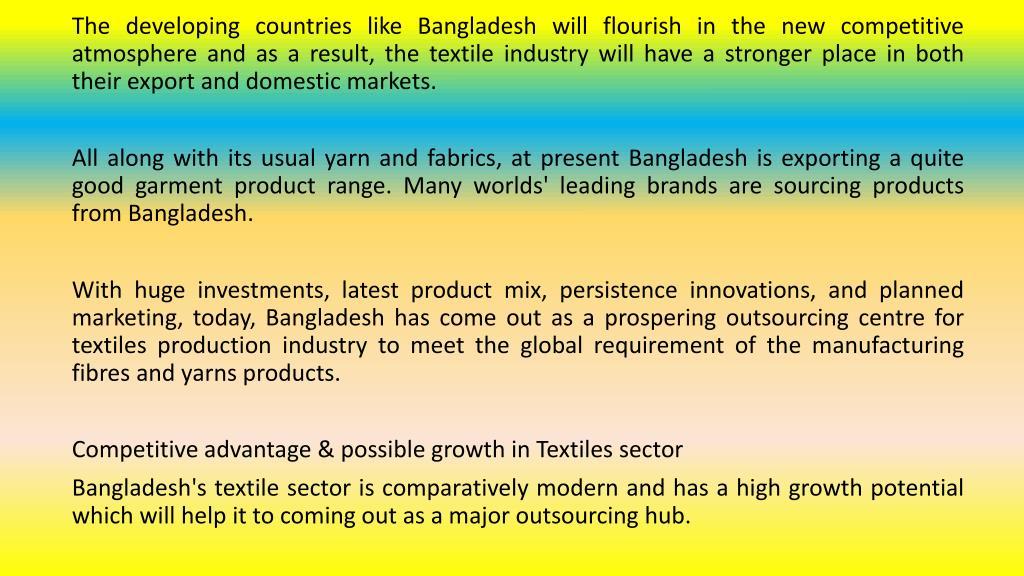PPT - Bangladesh: A Big Outsourcing Hub For Textile