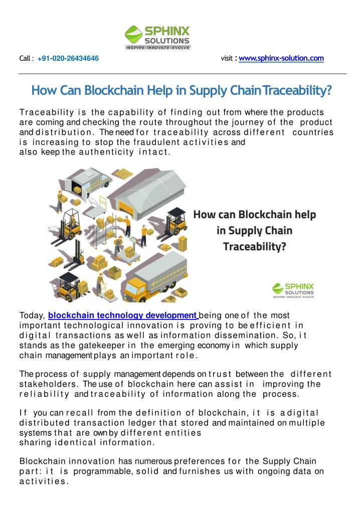 PPT - How can Blockchain Help in Supply Chain Traceability