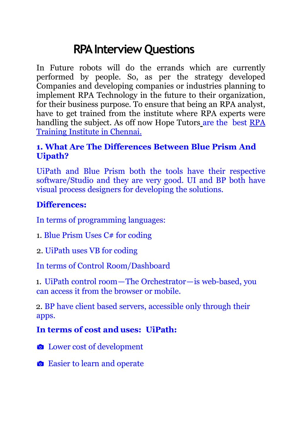 PPT - RPA Interview Questions PowerPoint Presentation - ID