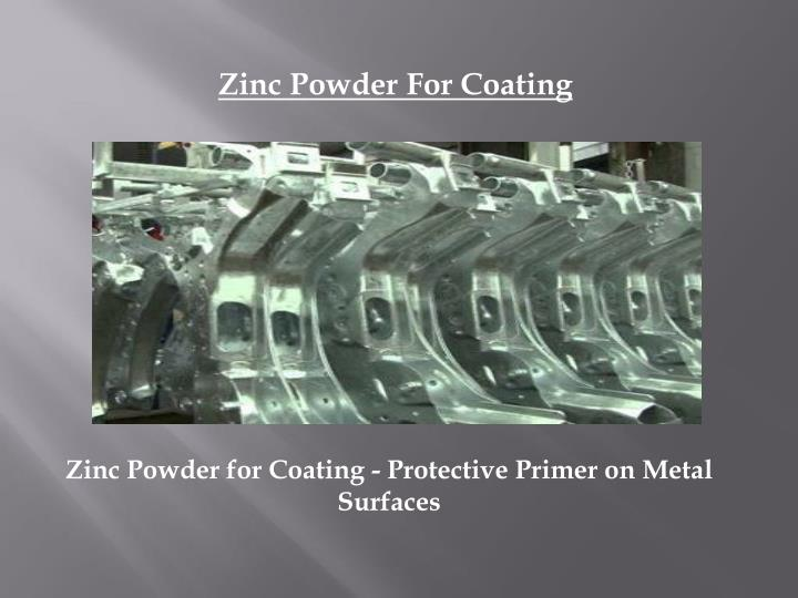 zinc powder for coating protective primer on metal surfaces n.