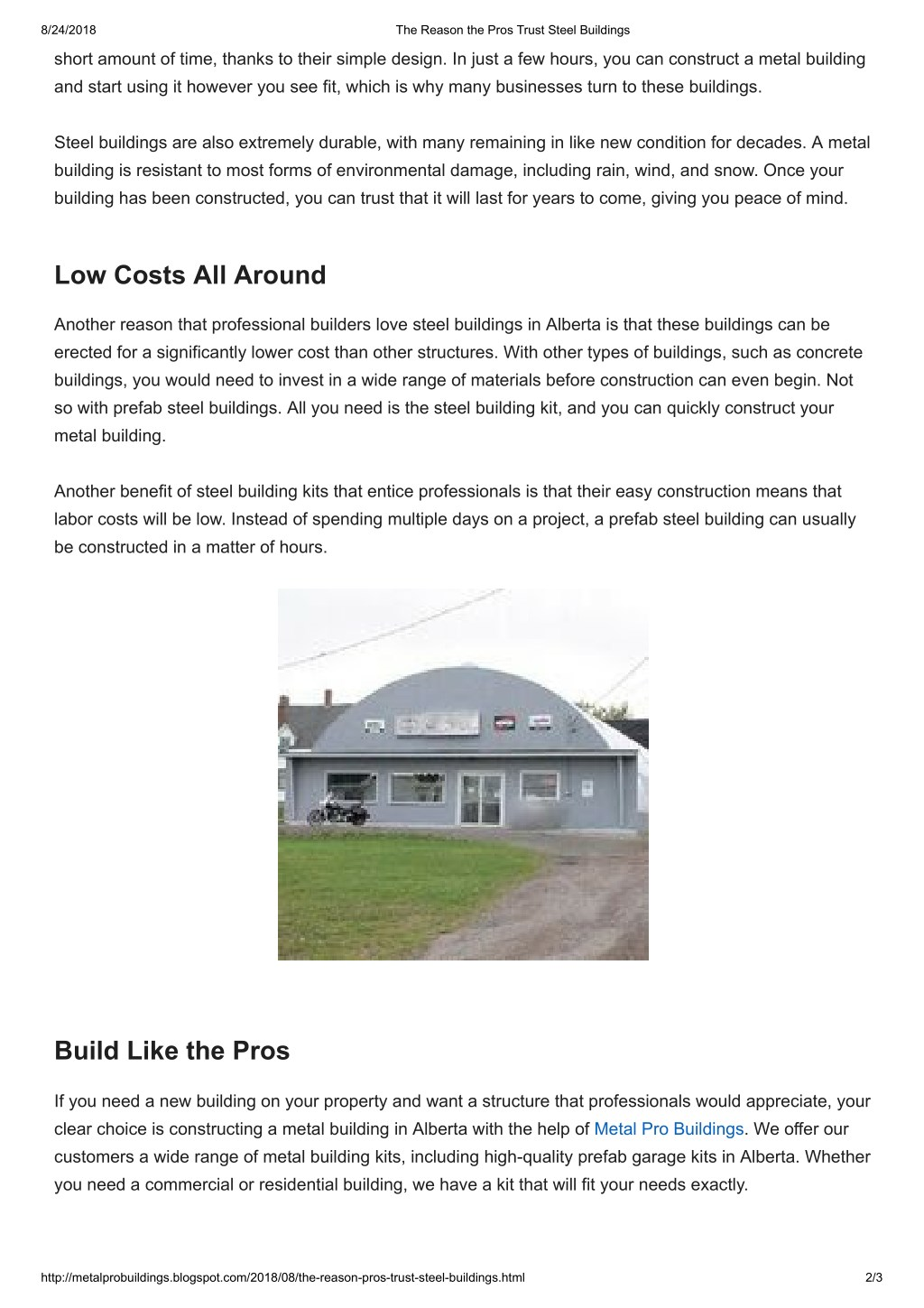 PPT - The Reason the Pros Trust Steel Buildings PowerPoint